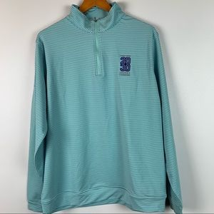 Peter Millar Mens Large 1/4 Zip Golf Sweatshirt